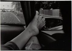 Smoking and aving your feet out the window... those were the days.