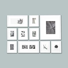 "Makes for an easy gallery wall.   White Picturewall Frame Kit 1"", $298, now featured on Fab."