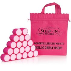 The rollers flatten like a sponge when you lie down to allow for a comfortable nights sleep while working their magic. The result is luscious-looking hair when you wake up, with large, gentle curls, volume and bounce. Want these!