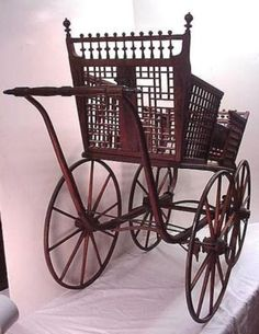 victorian baby carriage | Victorian Oak Baby Carriage For Sale | Antiques.com | Classifieds