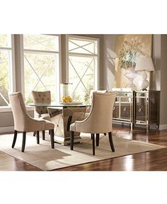 marais dining room furniture furniture table chairs buffet mirrored macys borghese mirrored furniture