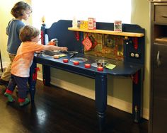 Kitchen from an old bed. Scroll down--http://thebroodinghen.blogspot.com/search/label/Toys%2FGames