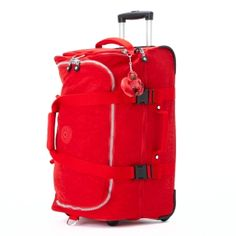 Teagan Small Wheeled Duffle in Red #Kipling 13.5 L X 12.25 H X 23 D #KiplingSweeps