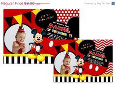 30 off sale Digital Mickey Mouse Printable Birthday by Samair, $5.60