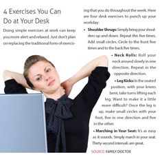 Four Exercises You Can Do at Your Desk!