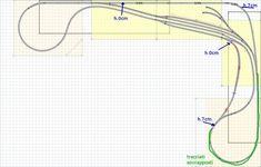 Model railroad track layout #modeltrainlayouts