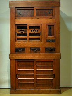 Mizuya Tansu (kitchen cupboard) Kofukuan antique store, Machida