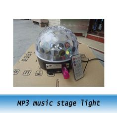 62.00$  Watch now - http://ali38a.worldwells.pw/go.php?t=707096942 - MP3 music magic laser light, led stage light, LED crystal ball lamp for bar KTV wedding