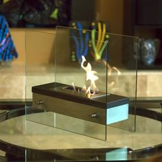 "Nu-Flame ""Ardore"" biofuel Fireplaces sold by Pondering Waters. www.indoorwaterfalldesign.com"