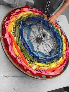 Love this weaving from Reggio Children Inspired