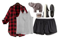 """Untitled #149"" by kennedy45 on Polyvore featuring H&M, American Eagle Outfitters, Stila and Mario Luca Giusti"