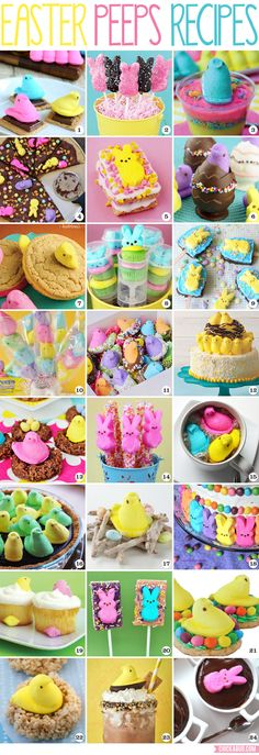 Best Easter Peeps Recipes The Best Easter Peeps Recipes!The Best Easter Peeps Recipes! Easter Snacks, Easter Peeps, Easter Candy, Hoppy Easter, Easter Treats, Easter Food, Easter Desserts, Easter Ham, Spring Desserts