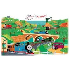 RoomMates RMK1081GM Thomas and Friends Peel & Stick Giant Wall Decal, $21.98