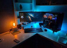 Love the lamp, two toned setups alway look sick  Check out the link in the bio!  Follow: @desktop.mastery @mechanical.mastery @pc.mastery  Dm me your setup to be featured!  #pcmasterrace #pcsetups #gamingpc #gaming #computersetup #computer #desksetup #computerbuild #pcbuild #battlestations #battlestation #pcsetup #games #roomtour #modern #moderndesign #cleanpc #setup #pc #custompc #pcmodding #mac #laptop #clean