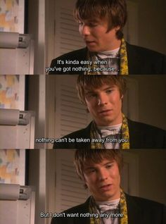 Skins makes me cry every time. They have such good character development.