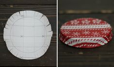 great tutorial on how to cover a jar lid for xmas gifts or for neat storage ideas