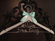 BLING Wedding Hanger / Cinderella Bridal Hanger / Disney Hanger / Brides Name Hanger / Bride Hanger / Bling Wedding / Disney Wedding on Etsy, $55.00