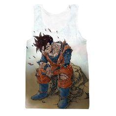 Dragon Ball Gohan Exhausted Sad Simple Design Vintage Streetwear Tank Top  #Dragon Ball #Gohan Exhausted Sad #Simple Design #Vintage #Streetwear #Tank Top