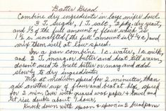 This handwritten recipe comes from a large collection, date unknown. Recipe is typed below along with a scanned copy.