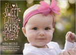Cute idea too for the birth announcement!