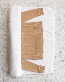 Hand-Washing Sweaters, via Martha Stewart