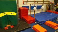 """Preschool Gymnastics: May 2015 Week 4 """"Carnival Games!""""  1. Headstand in circus tent with spot. 2. Swing and kick stars."""