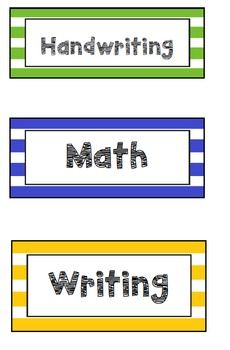 Brightly coloured tray labels for your classroom. Editable so labels can be changed to what you want them to say! Labels include a variety of subjects as well as items used around the classroom. Hello Fonts were used to create these labels. To keep the fonts used, download the fonts for free at https://www.teacherspayteachers.com/Product/Hello-Fonts-Personal-Non-Commercial-Use-301730If you don't have the the fonts when downloaded, Publisher will replace it with one already on the…