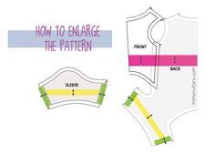 how enlarge pattern