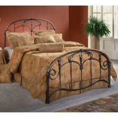 Jacqueline Antique Iron Bed in Old Brushed Pewter