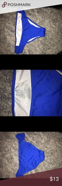 PINK brand royal blue bikini bottoms!!! Royal blue bikini bottoms with scrunched up sides!! This is only 13 while they are selling for 23!!! These are in great shape and are size XS!! PINK Victoria's Secret Swim Bikinis