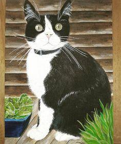 My own sweet Lewis , r.i.p. #schilderij #painting #pittura #kat #katten #zwartekat #cat #cats #blackcat #katze #schwarzekatze #chat #chatnoir #gatto #gattonero #gato #gatonegro #catlovers #catlover #catlove #catart #art #arte