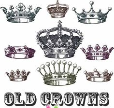 Some popular old crowns you've even seen in some jewelry designs by various artists