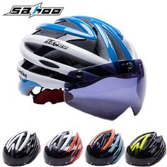 2017 NEW SAHOO Bicycle Helmet Women/Men Cycling Helmet Magnetic Goggles Ultralight Mtb Mountain Road Bike Helmet Casco Ciclismo ** AliExpress Affiliate's buyable pin. View the item in details on www.aliexpress.com by clicking the image #BicycleHelmets