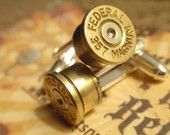 Bullet Cufflinks; my brother in law needs these for his wedding.