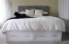 Twenty-Six To Life: DIY Knock Off of Pottery Barn's Stratton Bed (with drawers!)