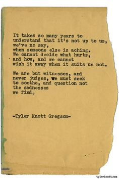 Typewriter Series #1533 by Tyler Knott Gregson Chasers of the Light & All The Words Are Yours are Out Now!