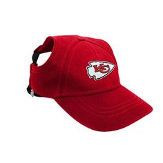 e487cf90f08 Kansas City Chiefs NFL Licensed LEP Dog Pet Baseball Cap Hat Red Sizes S-XL