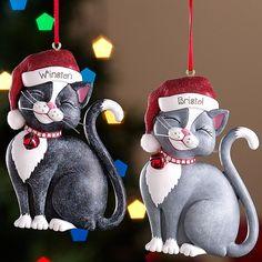 Santa Cats Ornaments