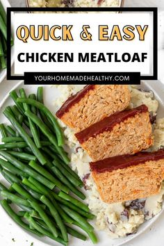 Healthy ground chicken meatloaf is packed full of delicious flavor. It has shredded vegetables right inside, perfect for picky eaters. It's moist, juicy, and the best comfort food or weeknight dinner. Ground Chicken Meatloaf, Ground Chicken Recipes, Cauliflower Mashed Potatoes, Hidden Veggies, Best Comfort Food, Meatloaf Recipes, Picky Eaters, Healthy Chicken, Stuffed Peppers