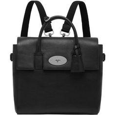 MULBERRY Medium Cara Delevingne Leather Backpack (26,820 MXN) ❤ liked on Polyvore featuring bags, backpacks, black, black leather rucksack, heart bag, black bag, leather backpack bag and mulberry backpack