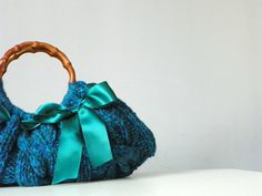 Women's Knit tote bag handmade bag accessories Knitted by NzLbags, $65.00