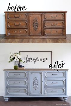 A collection of the BEST Painted Furniture projects by experts you need to be watching! Learn how to paint furniture & get inspired with these awesome DIY Furniture Projects! Bedroom Furniture Makeover, Refurbished Furniture, Farmhouse Furniture, Repurposed Furniture, Shabby Chic Furniture, Cool Furniture, Furniture Design, Furniture Stores, Furniture Refinishing
