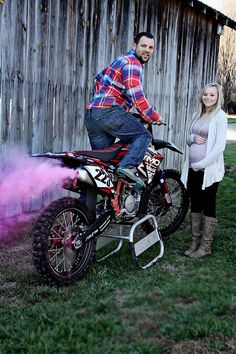 Our dirtbike gender reveal.