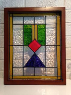 Handmade+craftsman+style+faux+stained+glass+by+TurtleDoveGlass. Etsy