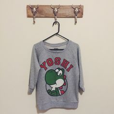 Forever21 Yoshi Sweatshirt Great condition Feel free to ask me any questions Thanks for browsing my closet! Happy Poshing Forever 21 Sweaters Crew & Scoop Necks