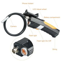 Giwox Handheld Wireless Wi-Fi inspection Camera Borescope Endoscope 1Meter and 7MM Diameter Waterproof Tube with 6 LED 2.0Mp Borescope for Cell phone Iphone/Android Smartphone/Ipad - - Amazon.com
