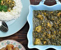 Turmeric & Saffron: Morgh-e Torsh - Sour Chicken Stew with Fresh Herbs and Yellow Split Peas
