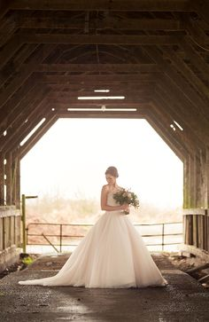This dreamy ballgown is featured in a styled shoot on our blog! @weddingwire