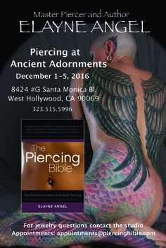 I have a few scattered appointments left to pierce YOU in L.A. December 1-5, 2016 at Ancient Adornments!