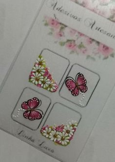 Arte Floral, Manicures, Nail Art, Nail Stickers, Easy Nails, Nail Jewels, Image Transfers, Cute Nails, Adhesive